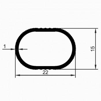 Лост за гардероб 22х15 мм