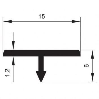 """Т"" образен профил 15 мм (разделител)"