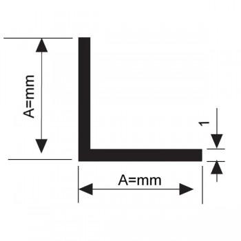 Алуминиев Г - образен профил (винкел) 25х25 мм