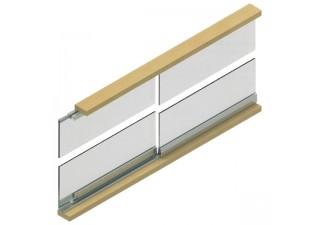 Система за плъзгащи се стъклени врати до 15 кг LC 15