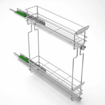 Механизъм за бутилки с плавно прибиране за шкаф 150 мм - десен