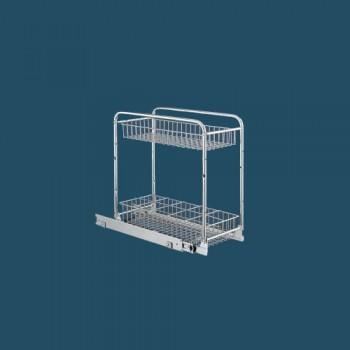 Механизъм за бутилки долно водене за шкаф 200 мм