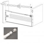 Релинг за метабокс 350 мм с регулация